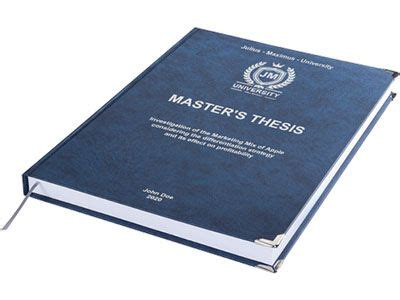 How to bind your thesis